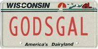 GODSGAL Vanity Plate Replica