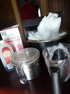 Ingredients for Snow Ice Cream