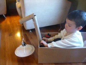 Cardboard Box Crane
